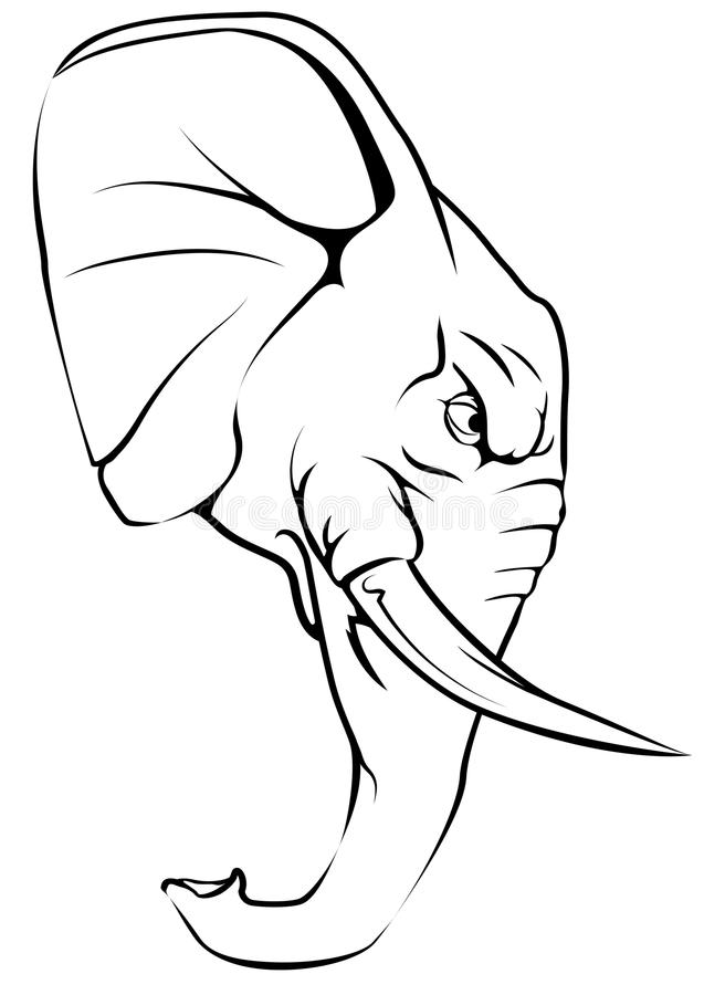 Słoń maskotki charakter ilustracja wektor