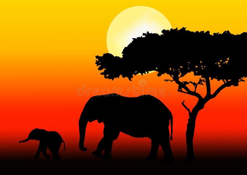 słoń rodziny, royalty ilustracja