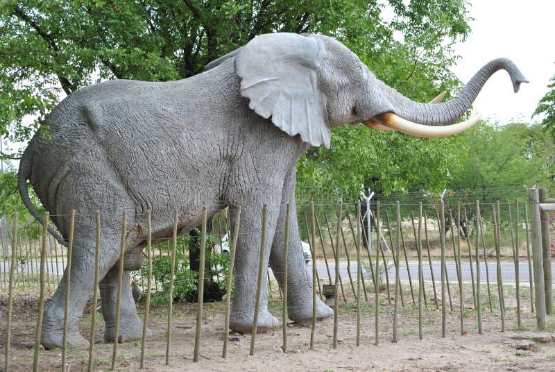 Słoń rzeźba zdjęcia royalty free