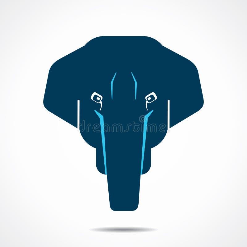 Słoń twarzy ikony ilustracja royalty ilustracja