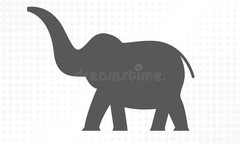 Słoń z bocznym widokiem dla twój projekta r?wnie? zwr?ci? corel ilustracji wektora royalty ilustracja