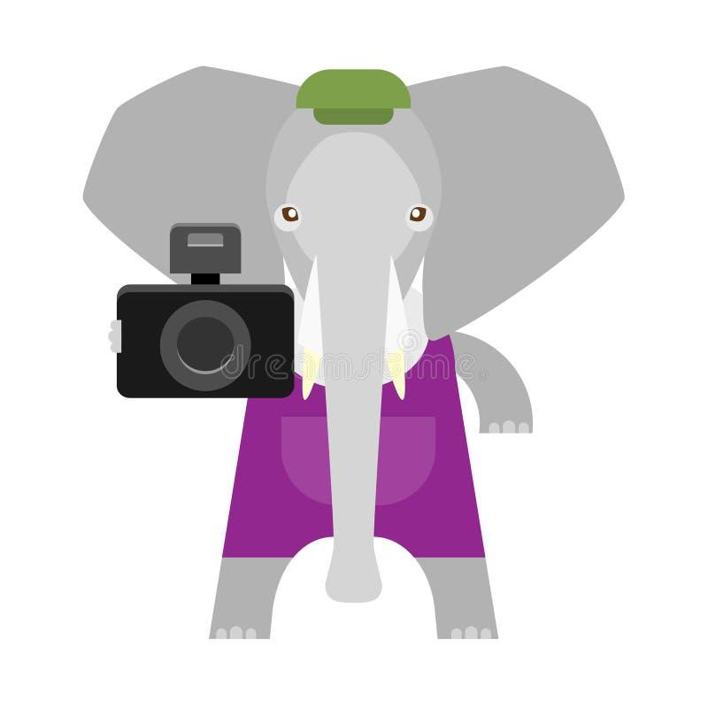Słoń z kamerą ilustracji