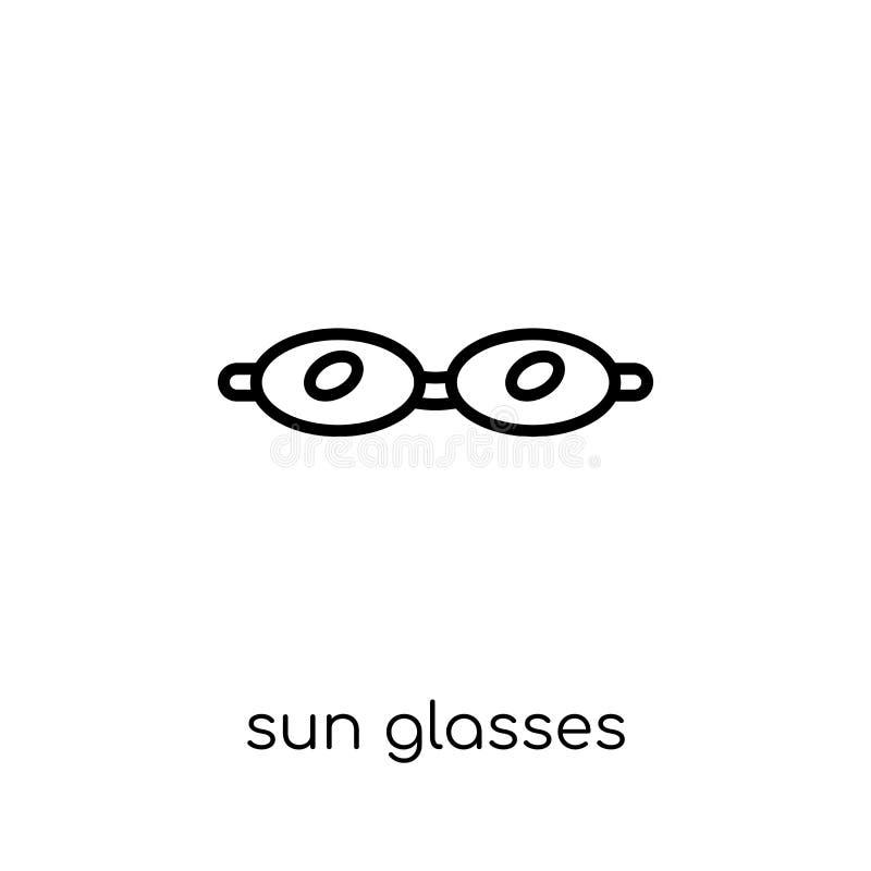Słońc szkieł ikona od kolekcji royalty ilustracja