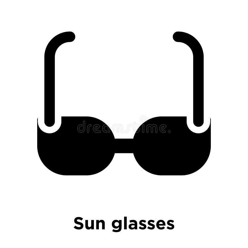 Słońc szkieł ikony wektor odizolowywający na białym tle, loga conce ilustracji