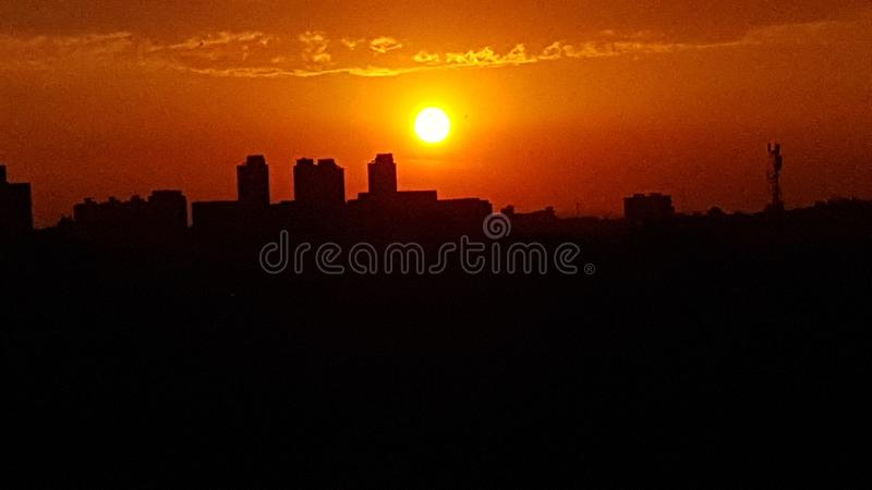 5 słońca fotografia royalty free