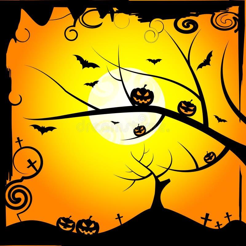 Słońca drzewa sposobów Trikowy, funda Lub gałąź royalty ilustracja