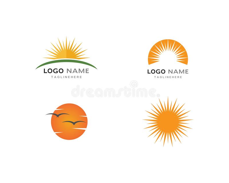 słońca ilustration loga wektor ilustracja wektor