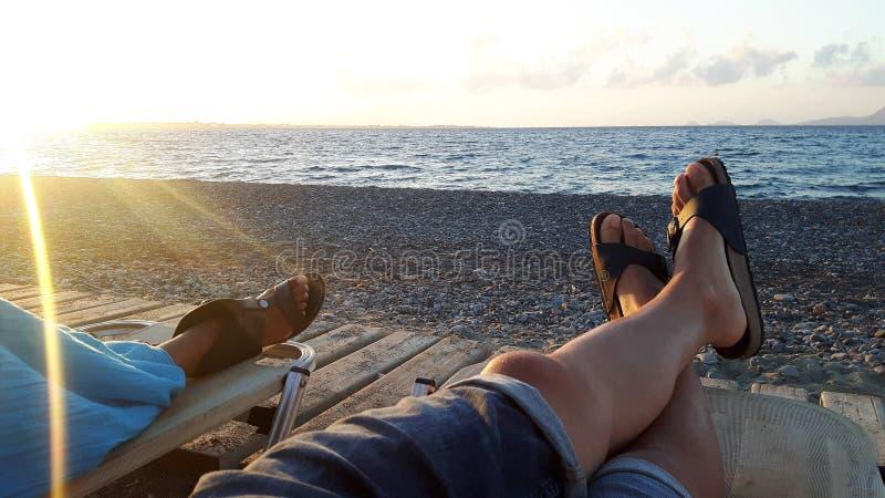 Słońca morze i relaksuje obraz stock