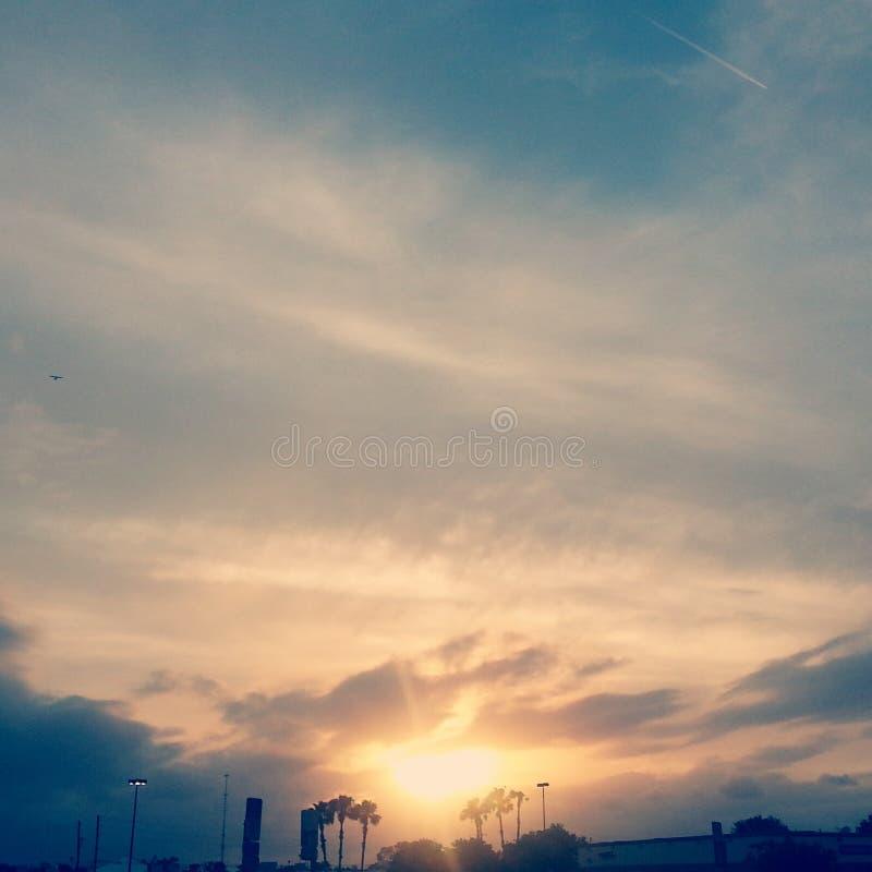 Słońca położenie zdjęcie stock