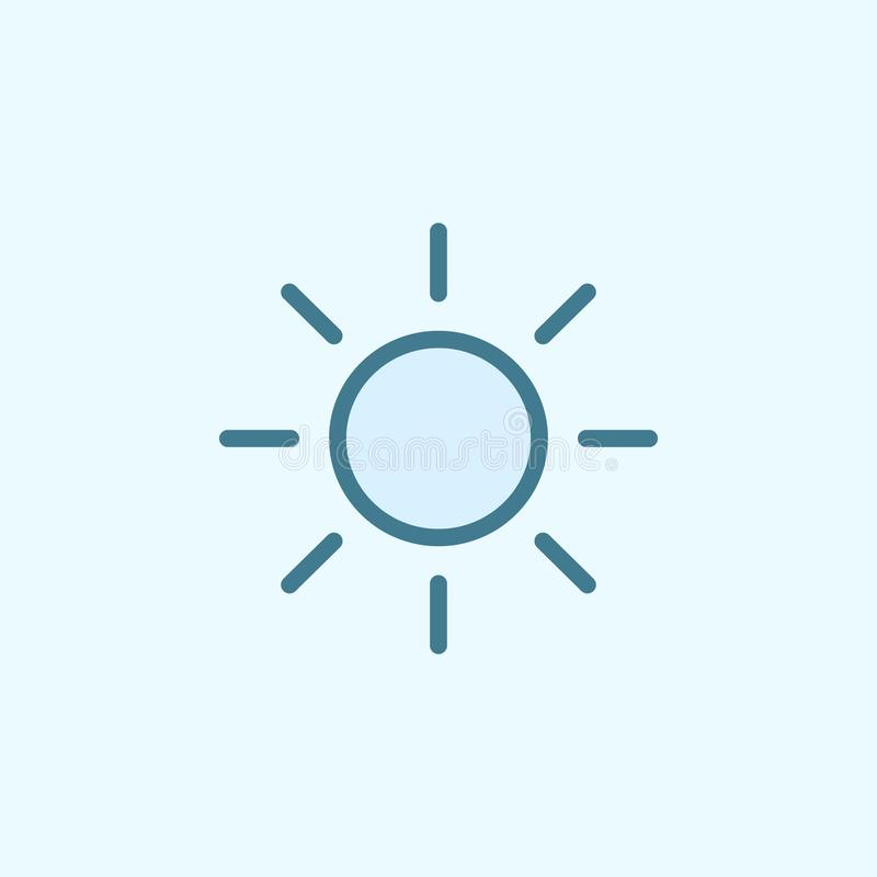 słońca pola konturu ikona Element 2 kolorów prosta ikona Cienka kreskowa ikona dla strona internetowa projekta i rozwoju, app roz royalty ilustracja