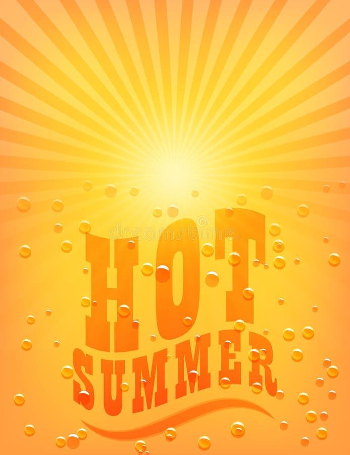 Słońca Sunburst wzór. Gorący lato ilustracja wektor