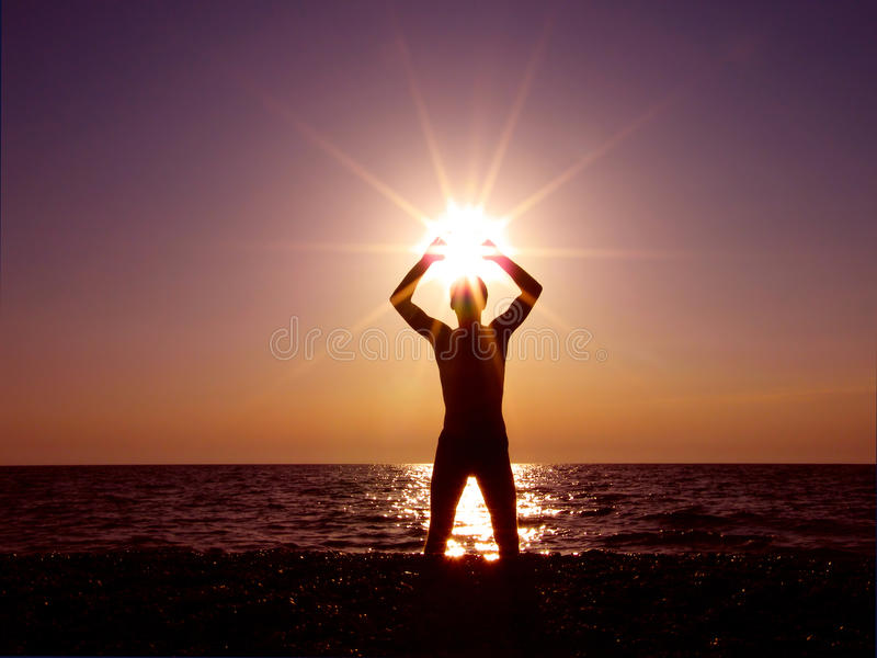 słońca target874_0_ obraz stock