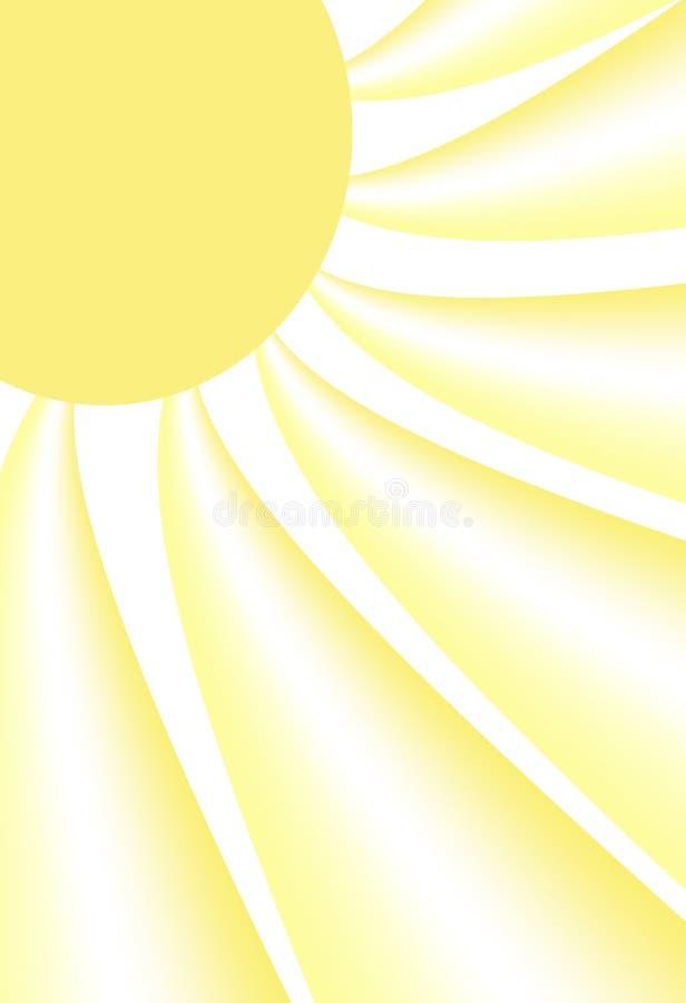 słońce abstrakcyjne ilustracja wektor