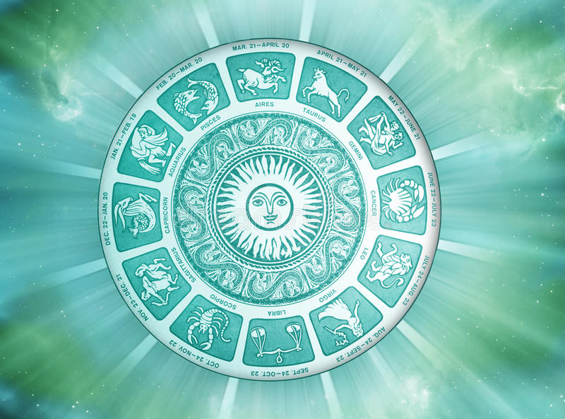 Słońce astrologia ilustracji