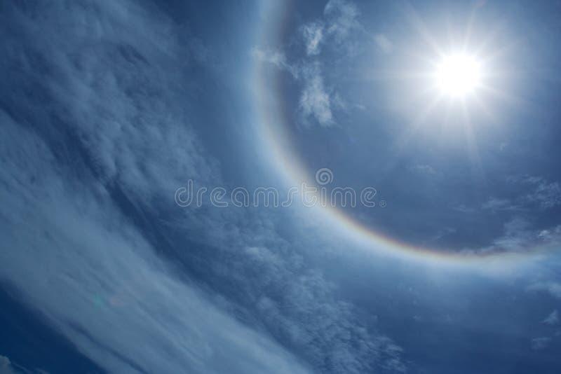 słońce aureolę obraz stock