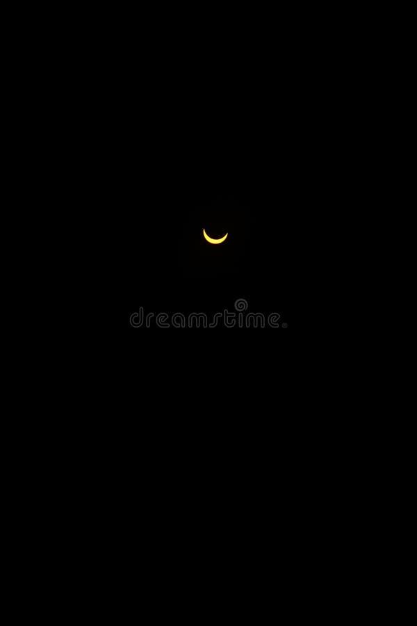 Słońce blokujący księżyc zdjęcie stock