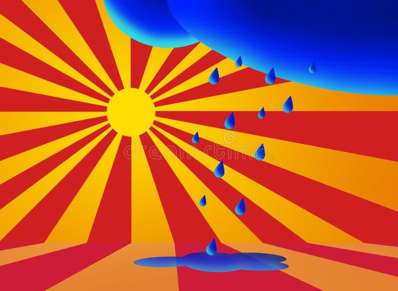 słońce, deszcz royalty ilustracja