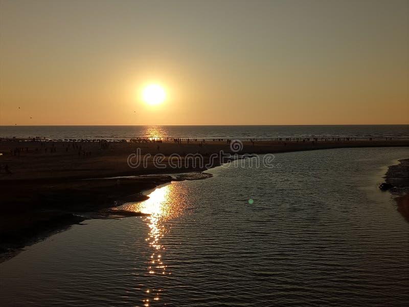 słońce dnia ostatniego razu ładny widok obraz royalty free