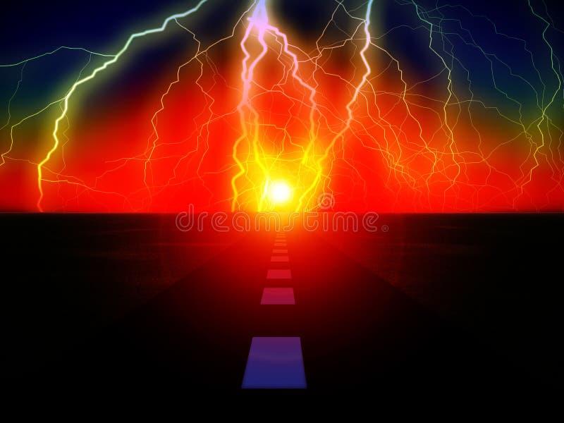 Słońce Droga 43 ilustracji