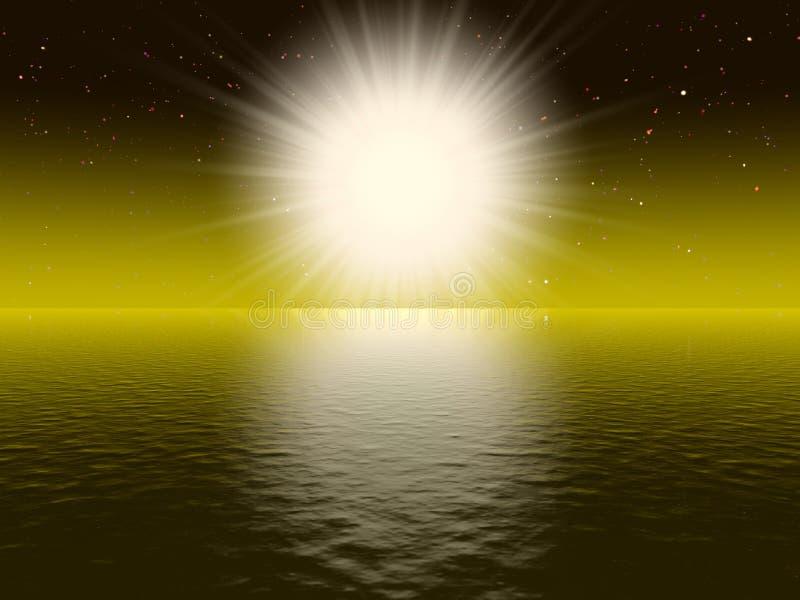 słońce duży biały ilustracji