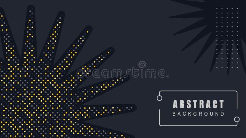 Słońce Elegancka dekoracja, Abstrakcjonistyczny Czarny tło wektor ilustracji