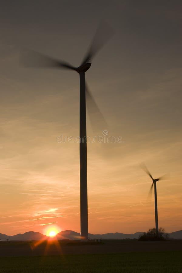 słońce energii wiatru obrazy stock