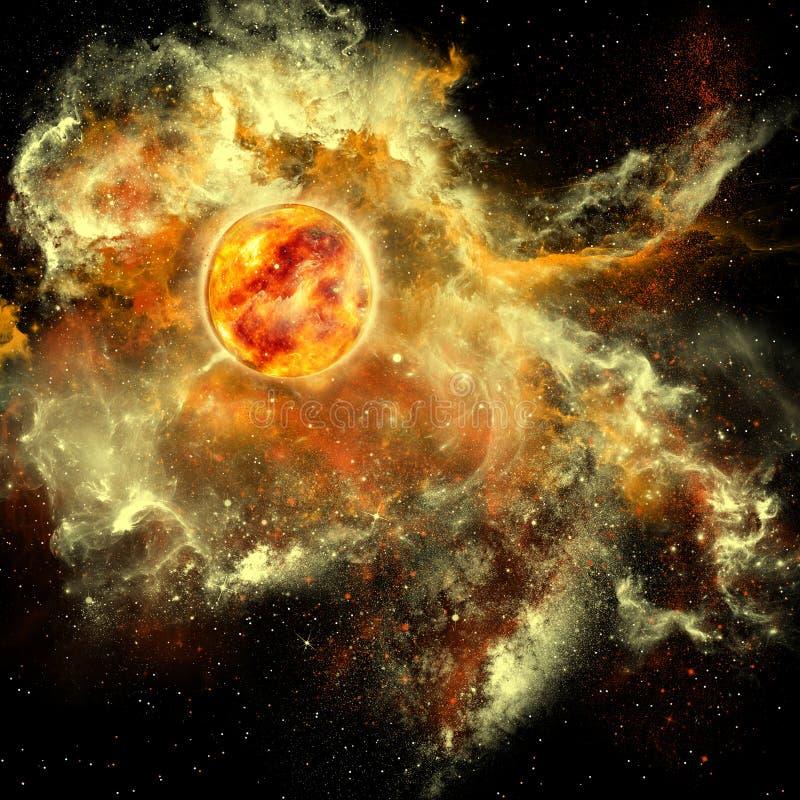 Słońce ewolucja royalty ilustracja