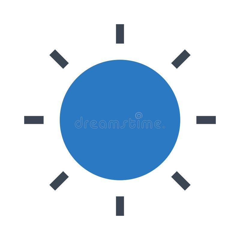Słońce glifów kopii koloru ikona royalty ilustracja