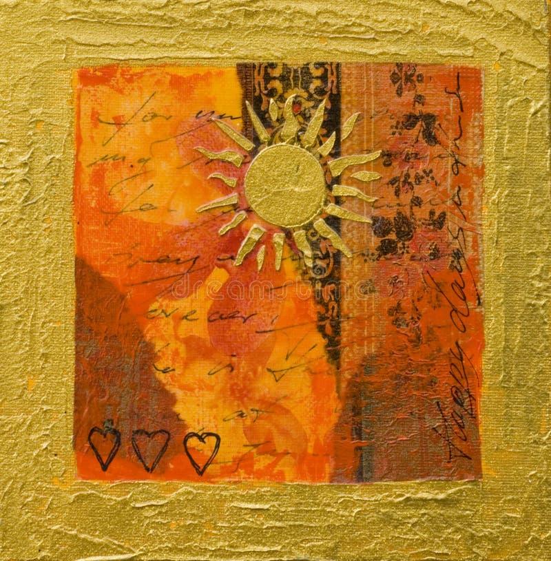 słońce grafiki kolaż ilustracja wektor