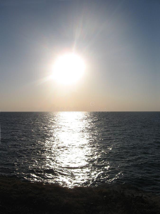 Słońce i morze fotografia stock