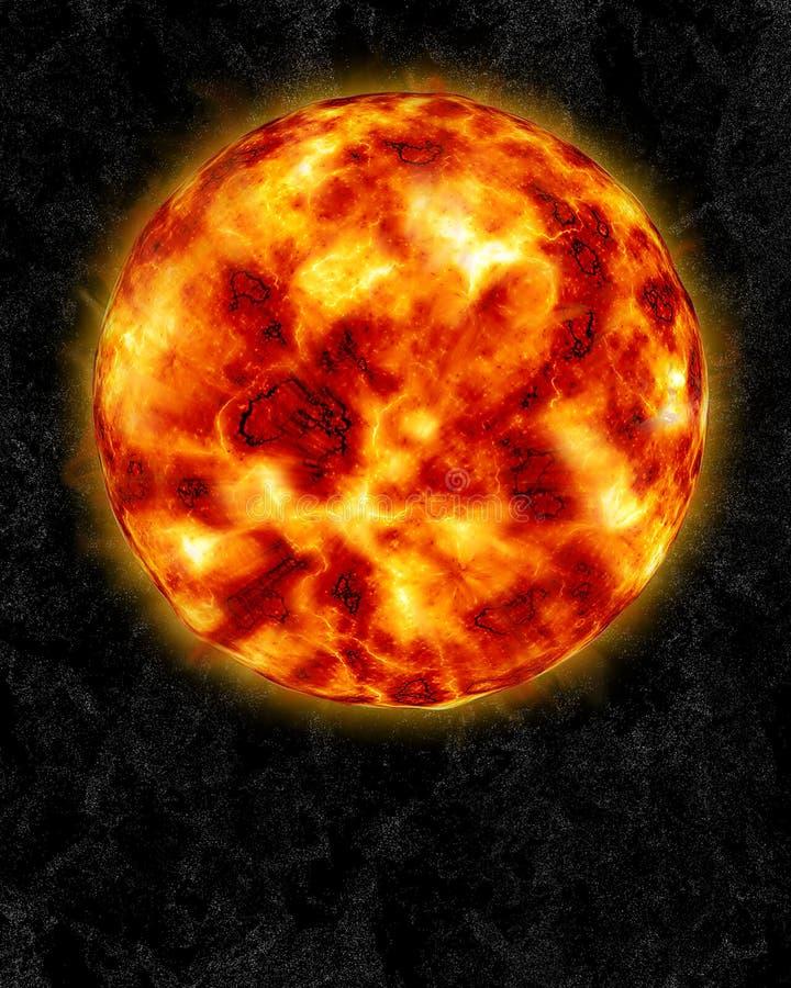 Słońce i słońce wybuchy royalty ilustracja
