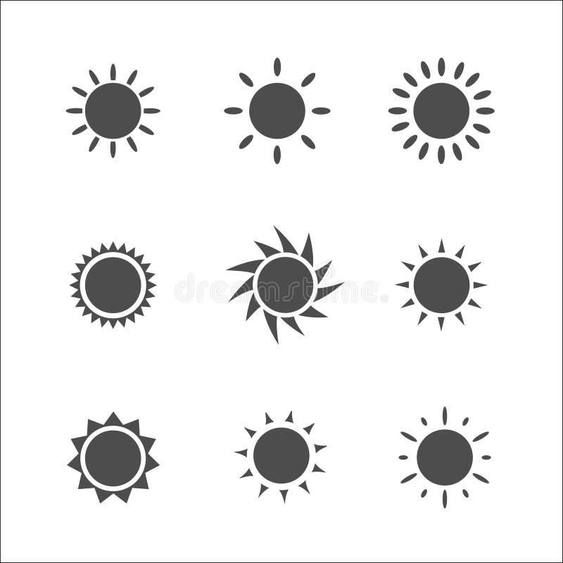 Słońce ikona również zwrócić corel ilustracji wektora fotografia stock
