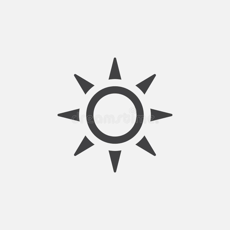 Słońce ikona, wektorowa logo ilustracja, piktogram odizolowywający na bielu ilustracji