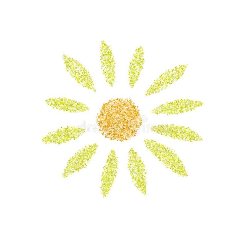 Słońce ikony odizolowywać nad białym tłem ilustracji