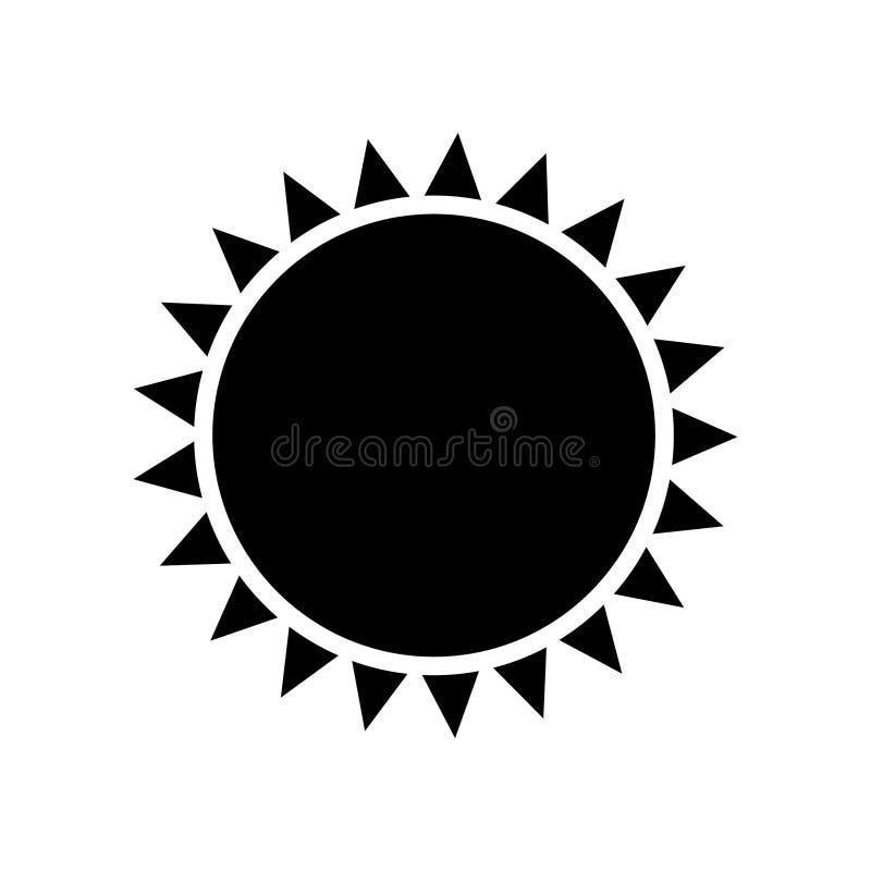 Słońce ikony wektor odizolowywający royalty ilustracja
