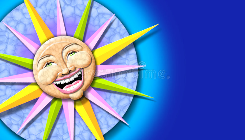 słońce ilustracyjny ilustracji
