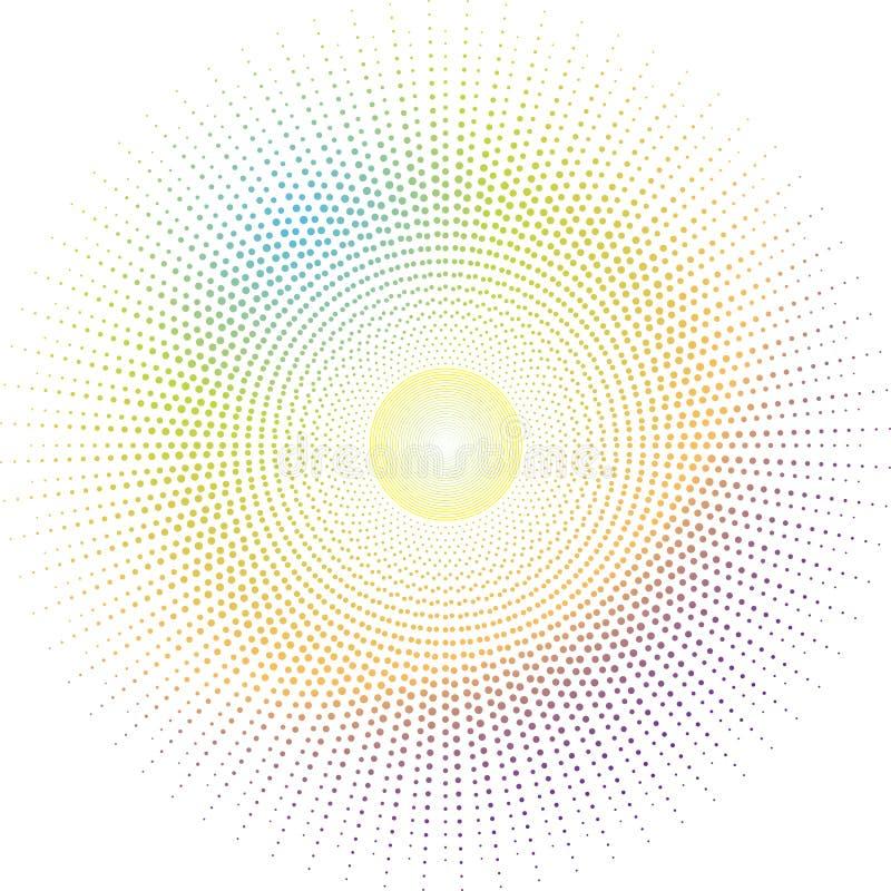 słońce inków royalty ilustracja