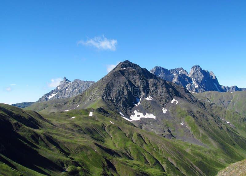 słońce jasnego dzień highmountains gór Październik Russia słońce obrazy royalty free