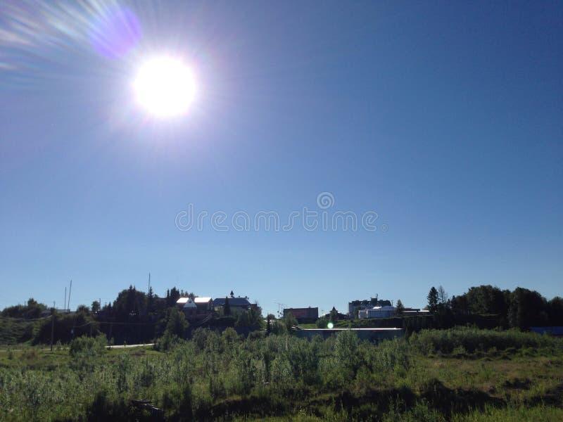 Słońce jest w Północnej wiosce obrazy royalty free
