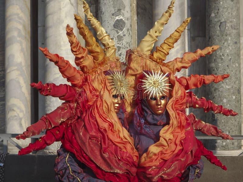 Słońce karnawału maska w Wenecja, Włochy zdjęcia royalty free