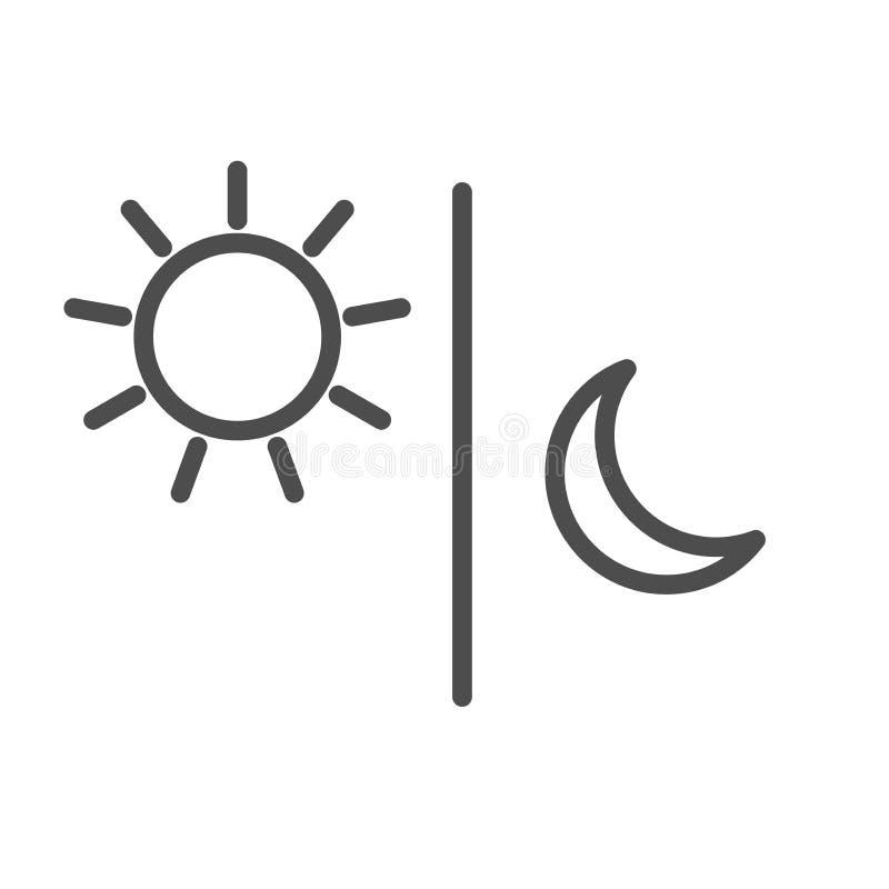 Słońce księżyc ikony ilustracji odosobniony wektor ilustracji
