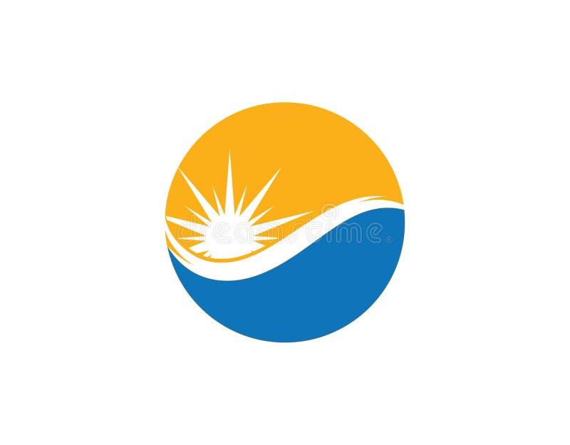 słońce loga światła ikona ilustracja wektor