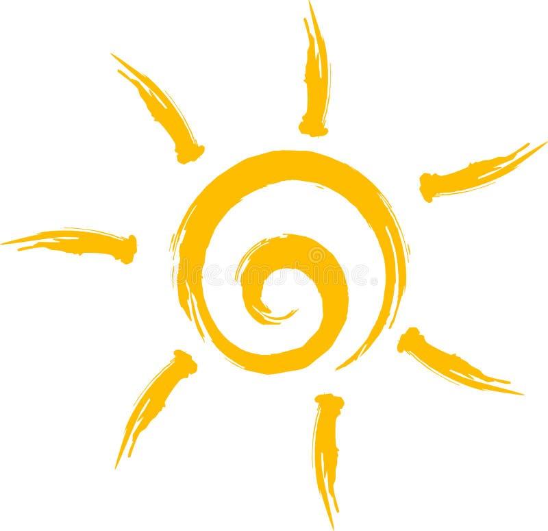 Słońce logo royalty ilustracja