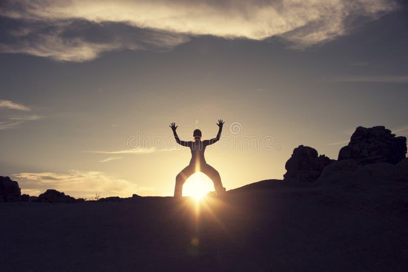 Słońce Magiczna Energetyczna kobieta obraz stock