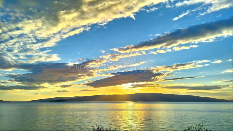 Słońce, morze, ładny obraz stock