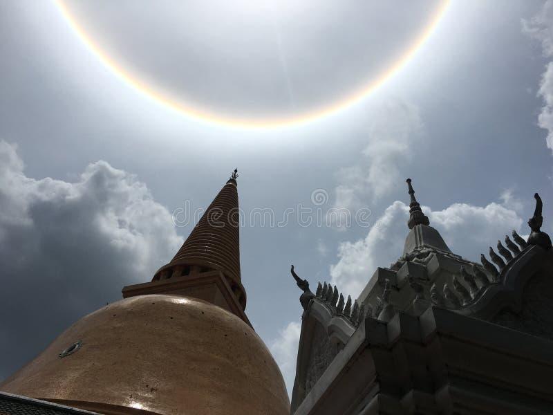 Słońce na świątyni obraz royalty free