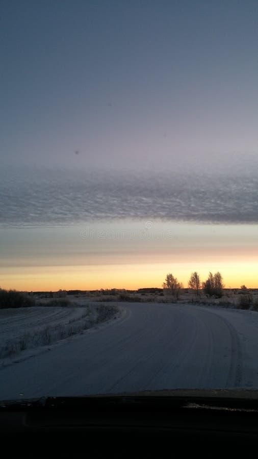 Słońce na drodze zdjęcie stock