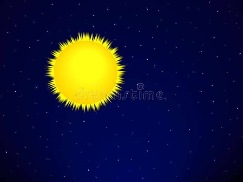 Słońce na przestrzeni ilustracja wektor