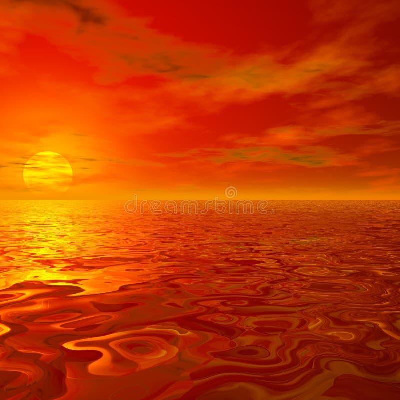słońce, niebo royalty ilustracja