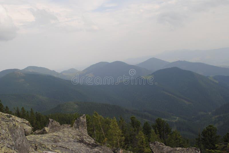 Słońce, niebo, chmury, nieskończoność, przestrzeń, Carpathians fotografia royalty free